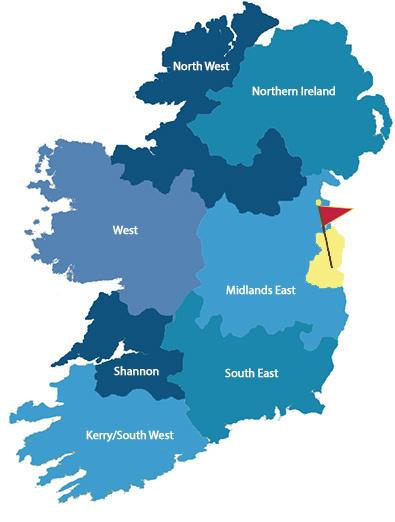 ireland regions Dublin map 3